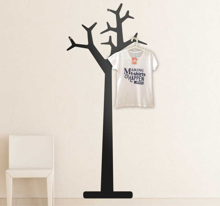 tree coat rack coat hanger decal