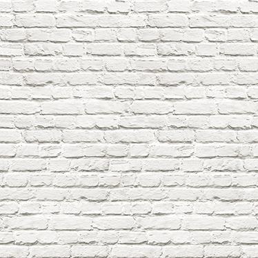 sticker frise murale brique blanche