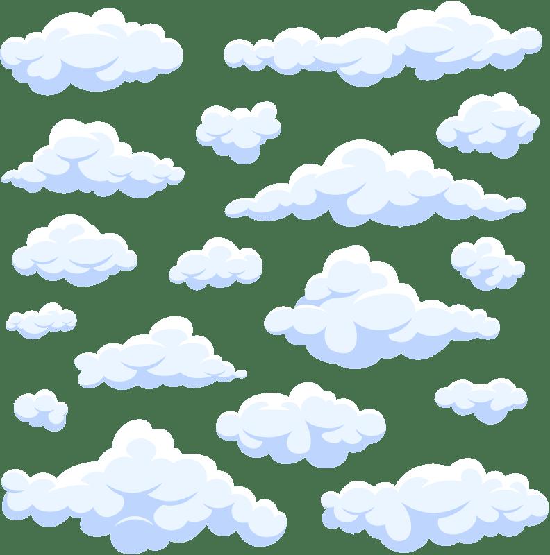 sticker mural chambre enfant nuages realistes