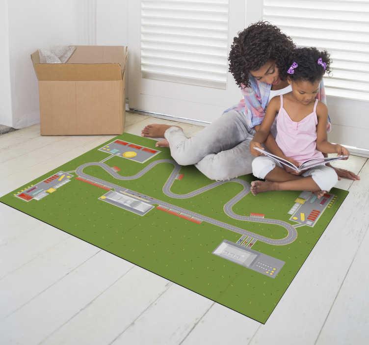 tapis vinyl voiture piste de ville