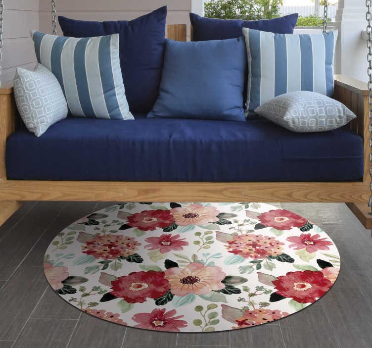 tapis en vinyle de style vintage avec des fleurs vintage