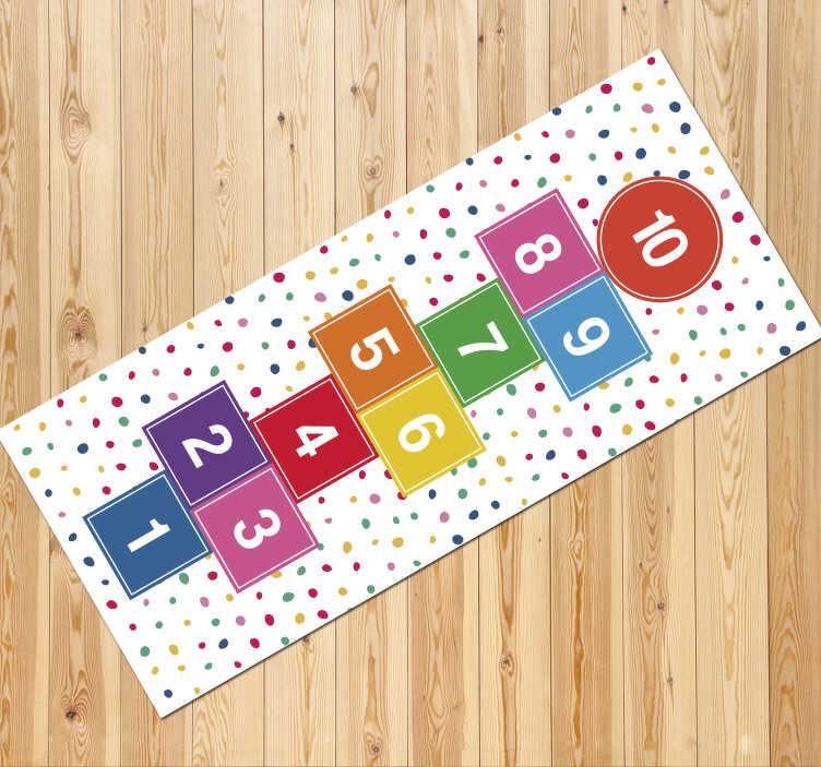tapis en vinyl de jeu de marelle de tons pastel
