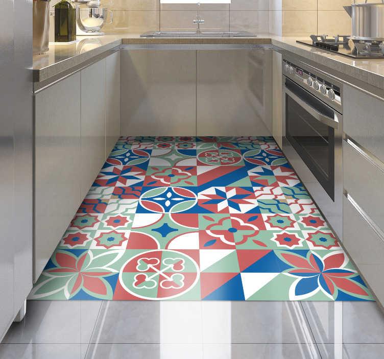 tapis de cuisine en vinyl a adhesif decos differents