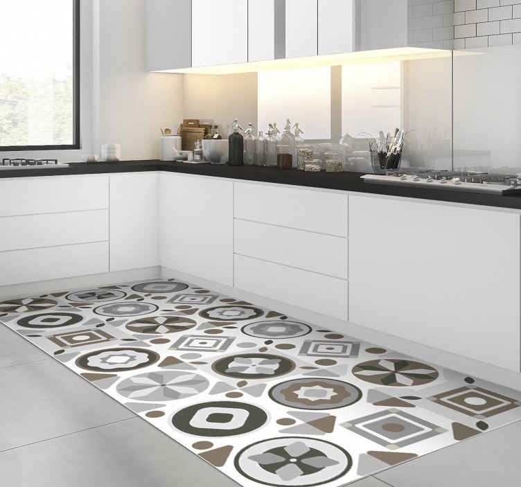 tapis de vinyl pour carreaux de cuisine