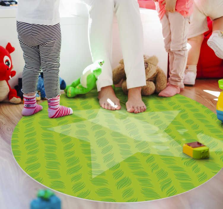 tapis de vinyl etoile dans un cercle etoiles