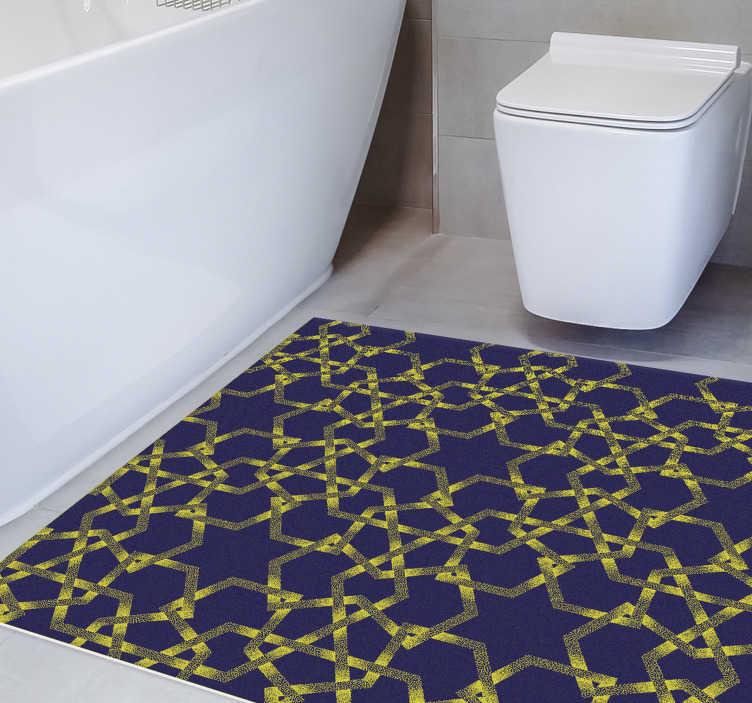 https www tenstickers fr tapis vinyle tapis autocollant moderne bleu jaune etoiles r410