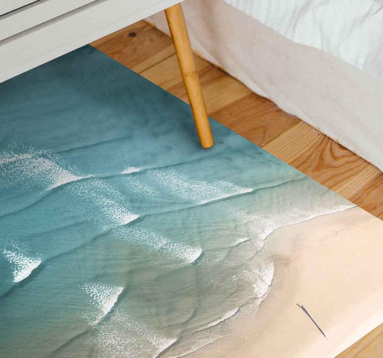https www tenstickers fr tapis vinyle tapis vinyl pour chambre bord de mer r1248