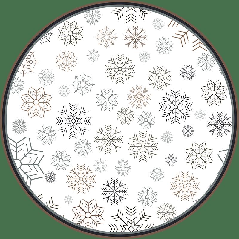 tapis salon cercles de flocon de neige