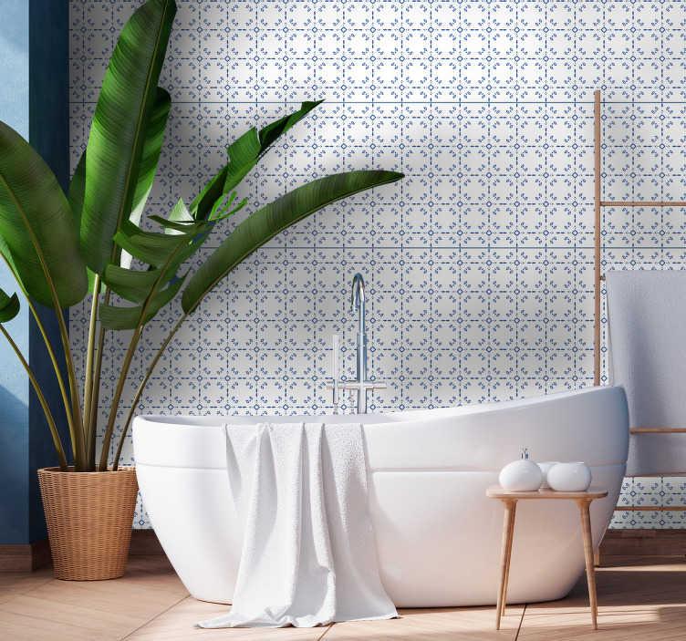 papier peint classique pour salle de bain