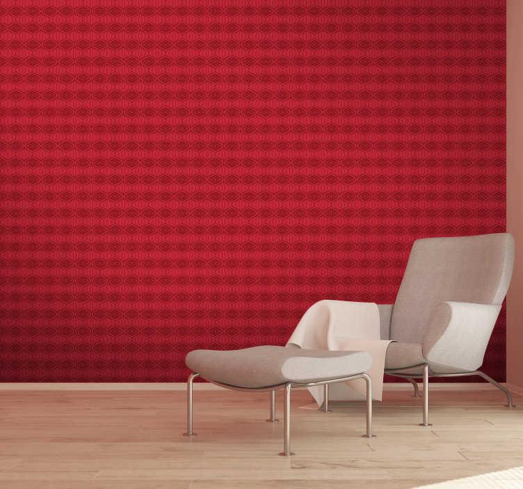 Adesivo in polvere per parati vintage paint originale confezione da 175 grammi applica in maniera semplice e veloce la tua carta da parati vintage paint,. Wallpaper Red Oriental Pattern Tenstickers