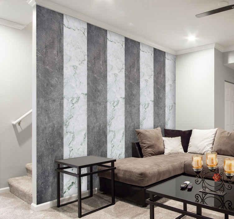 papier peint salon marbre gris