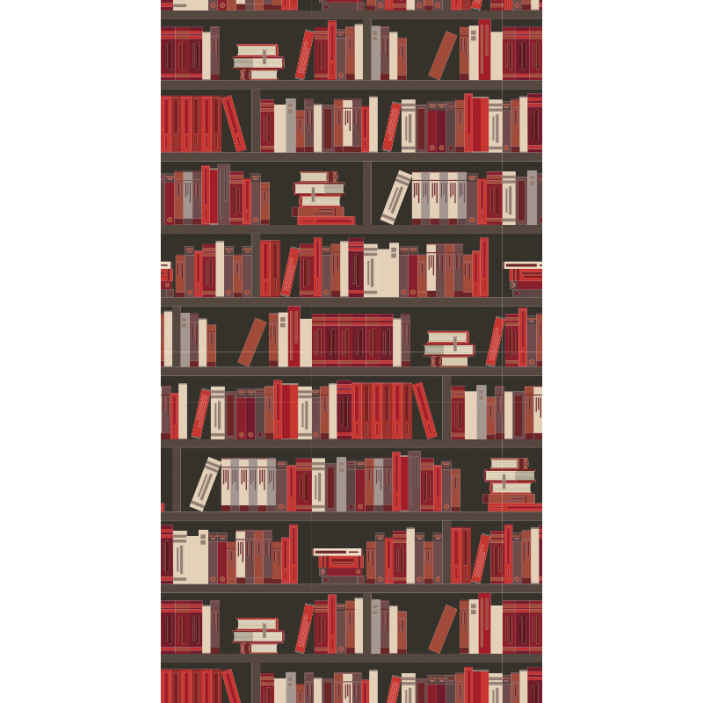 papier peint deco moderne style bibliotheque