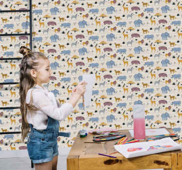 carta da parati bambini foto mural sfondo, dente di leone e turchese. Carta Da Parati Bambini Decora Con Fantasia Tenstickers