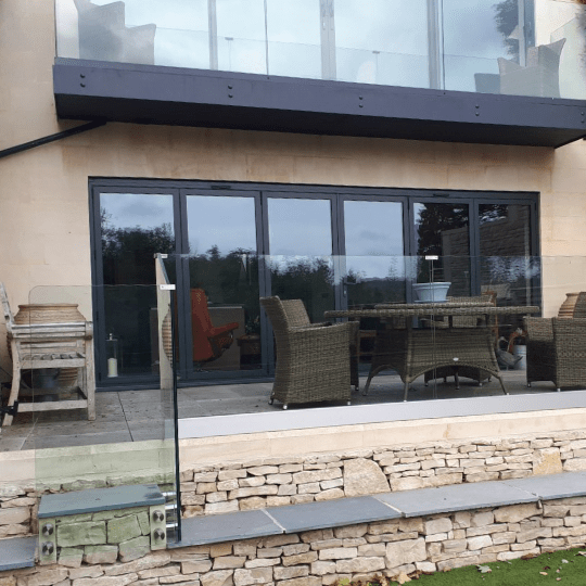 Bespoke Glass Balustrade Patio