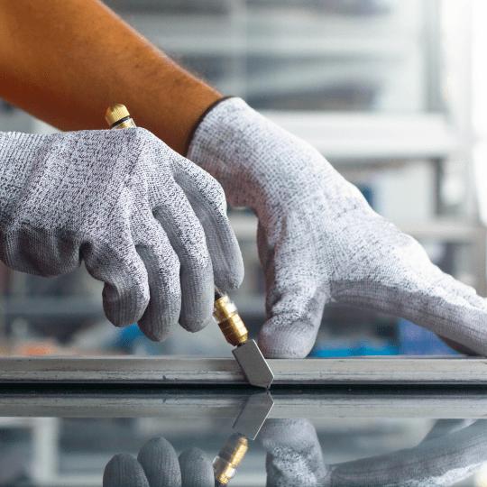 DB Glass installation glass cutting