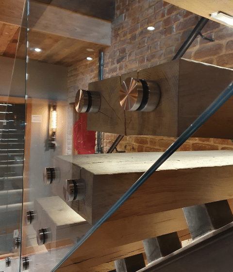 internal glass stairs balustrading