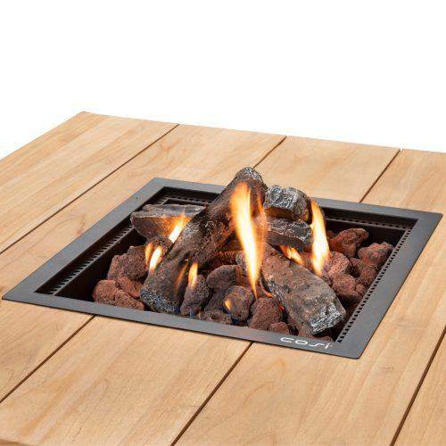5957860 - Cosiloft 100 lounge table black-teak - detail