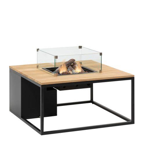 5957860 - Cosiloft 100 lounge table black-teak - glass - side