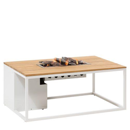 5958760 - Cosiloft 120 lounge table white-teak - side