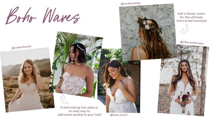 Bridal boho waves