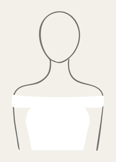 Illustration of topless neckline.