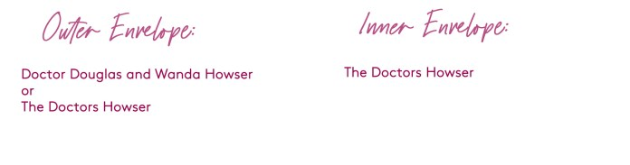 how to address a wedding invitation to a couple who are both doctors