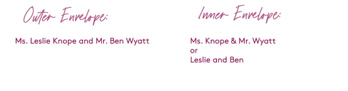 how to address a wedding invitation to a married couple with different last names