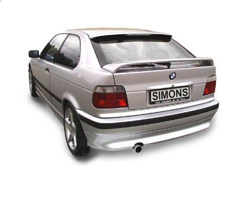 simons aluminized steel exhaustsystem 1x80 mm round bmw e36 316i compact model 00