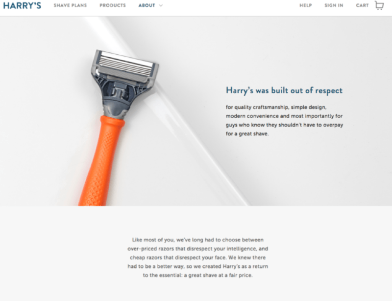 Harry's Story Example Branding Your Startup