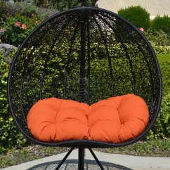 Outdoor Wicker Swing Chair Walmart Desks And Chairs 2 Persons Seater Bird Egg Nest Rattan Lounge Hanging Hammock In Or Out Door ...