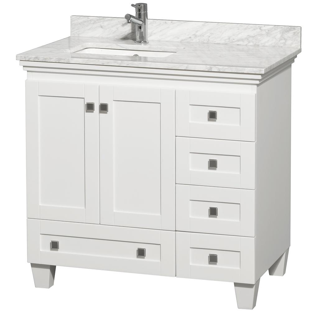 36 Acclaim Single Bath Vanity  White  Bathgemscom