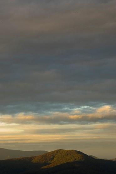 Sunrise from the Blue Ridge Parkway, near Alta Pass. (©2008 David Boraks)