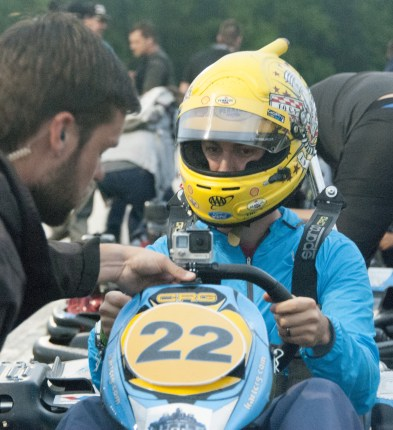 Last minute adjustments for Joey Logano before the final race. (David Boraks photo)