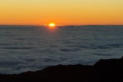 MAUI - the sun rising over Haleakala Crater