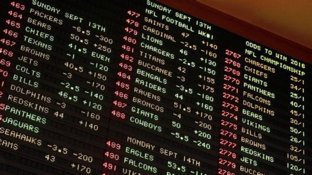 Vegas oddsboard