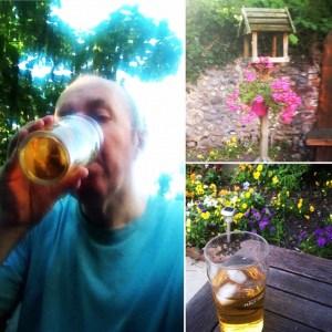 Refreshment in the garden