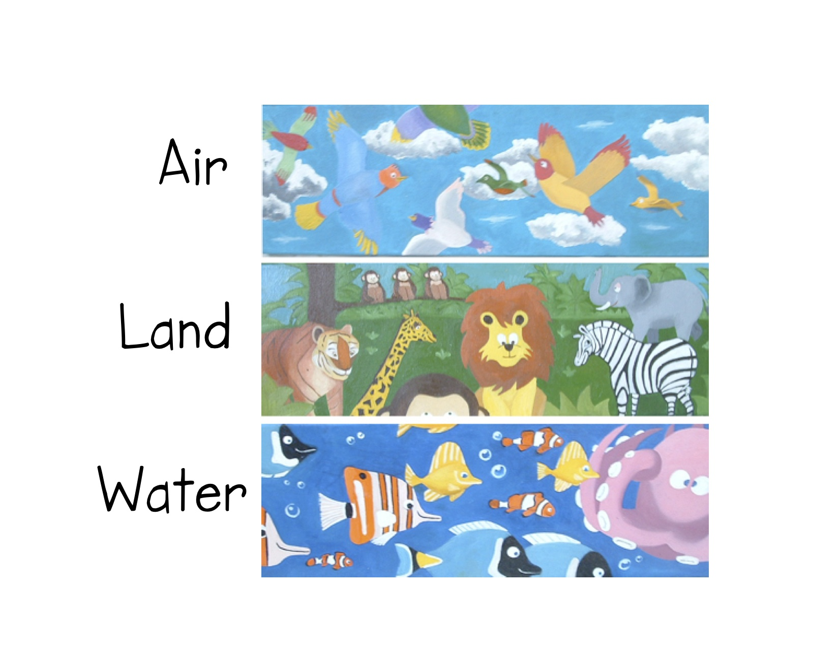 Water And Land Animals Worksheet