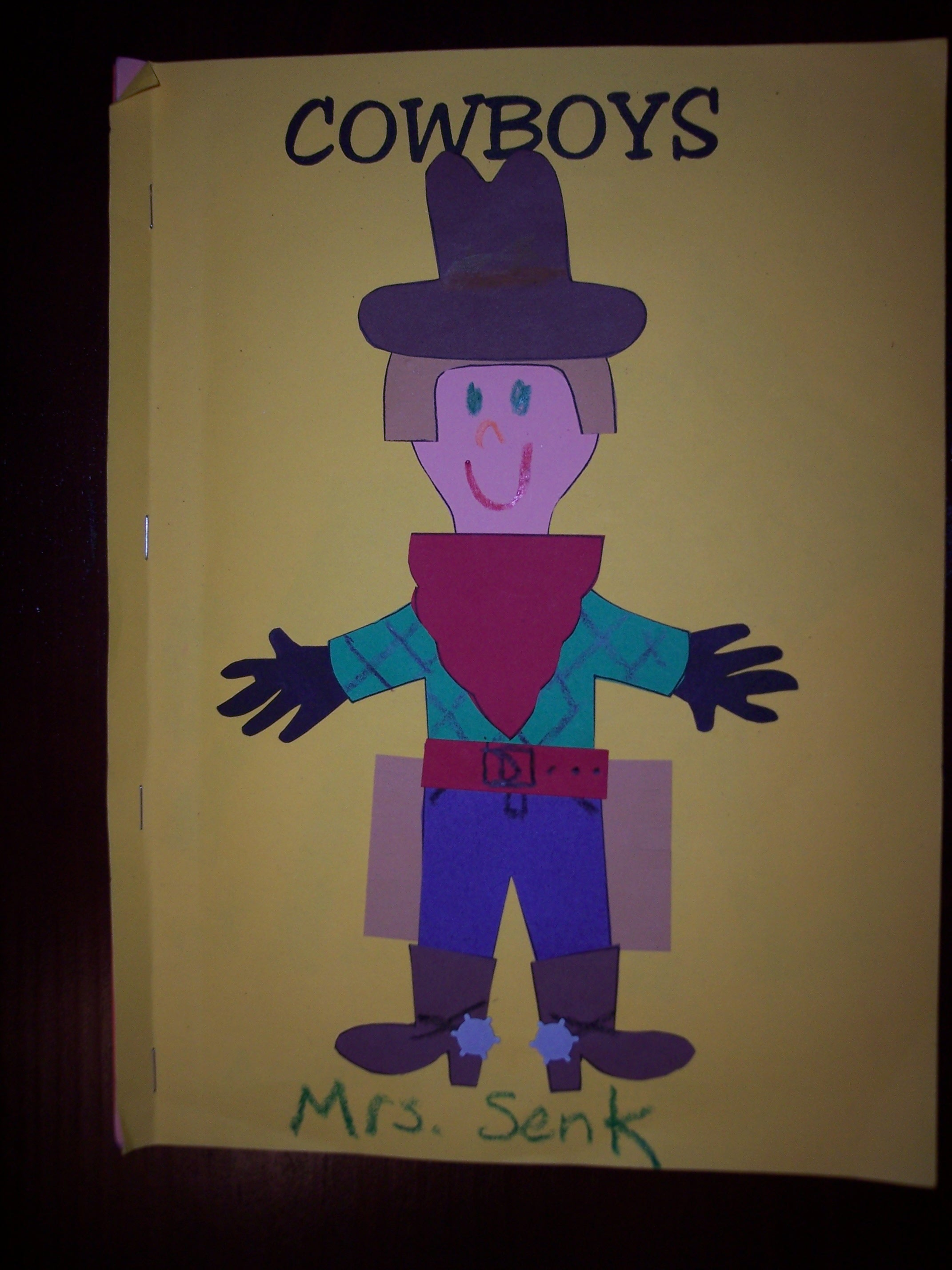 Wild West Preschool Worksheet