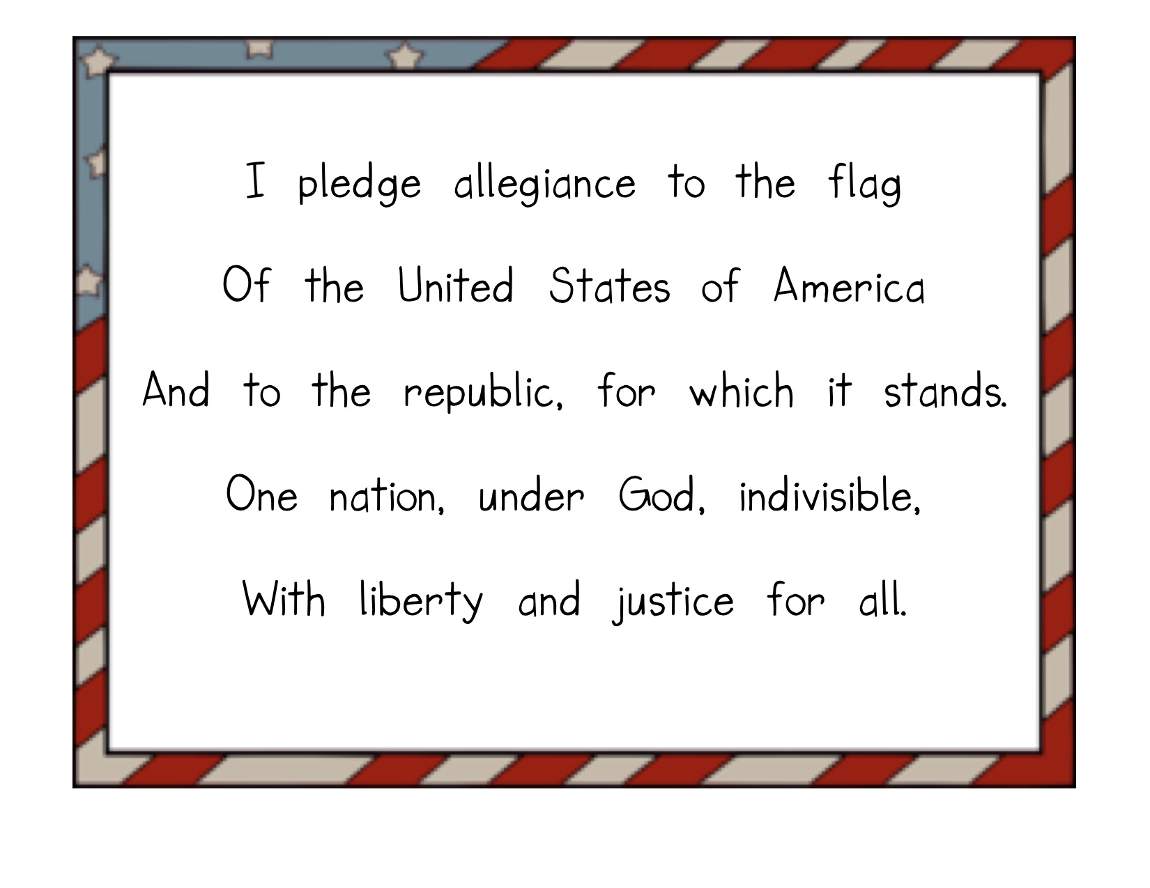 Pledge Of Allegiance Flags