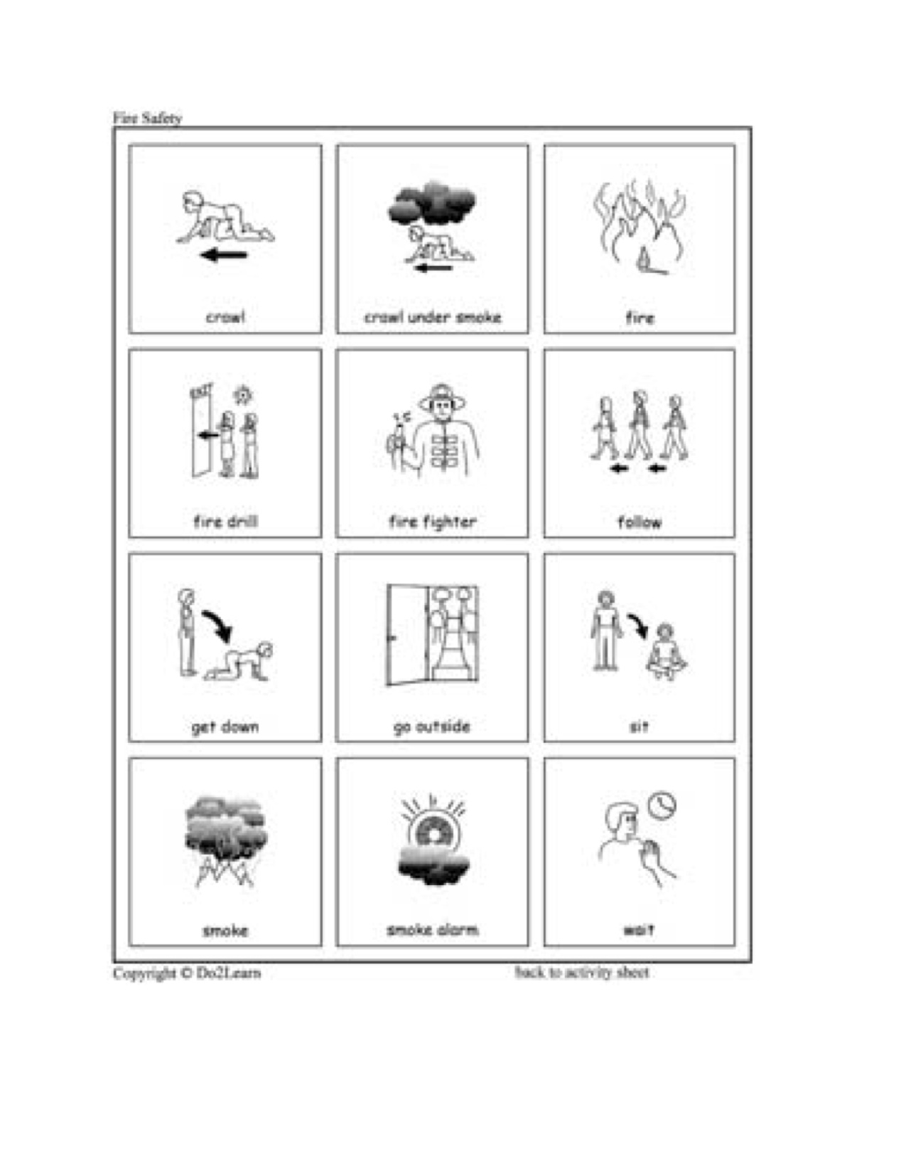 Fire Safety Worksheets For Preschoolers