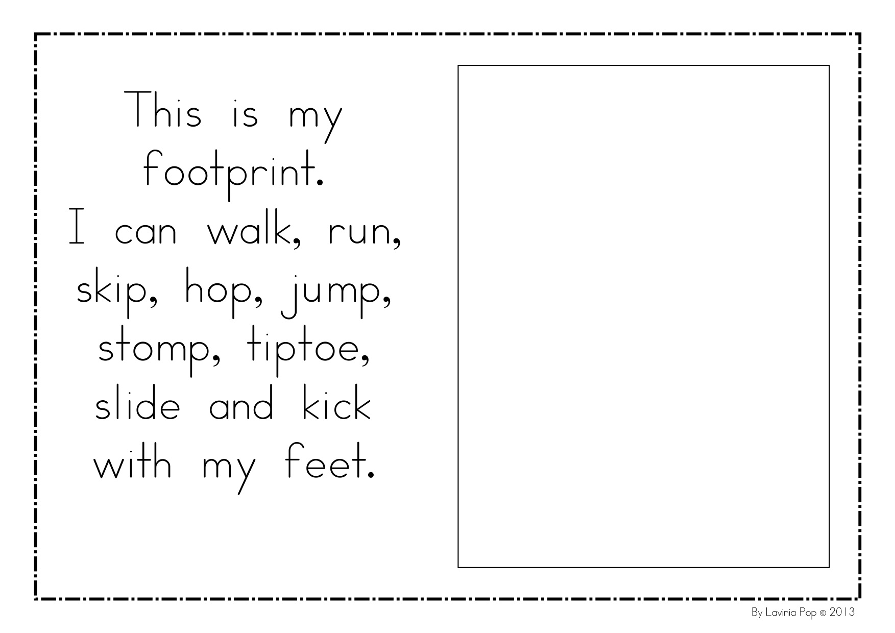 Kindergarten Book Walk Worksheet