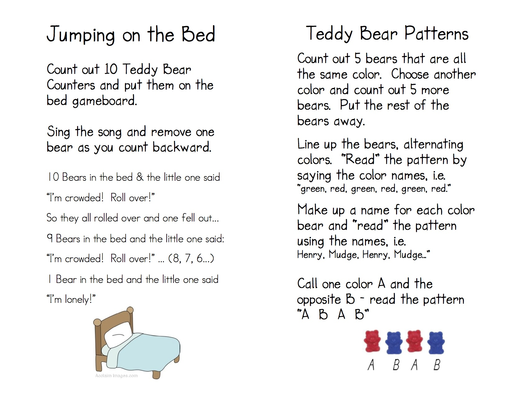 Teddy Bear Counters