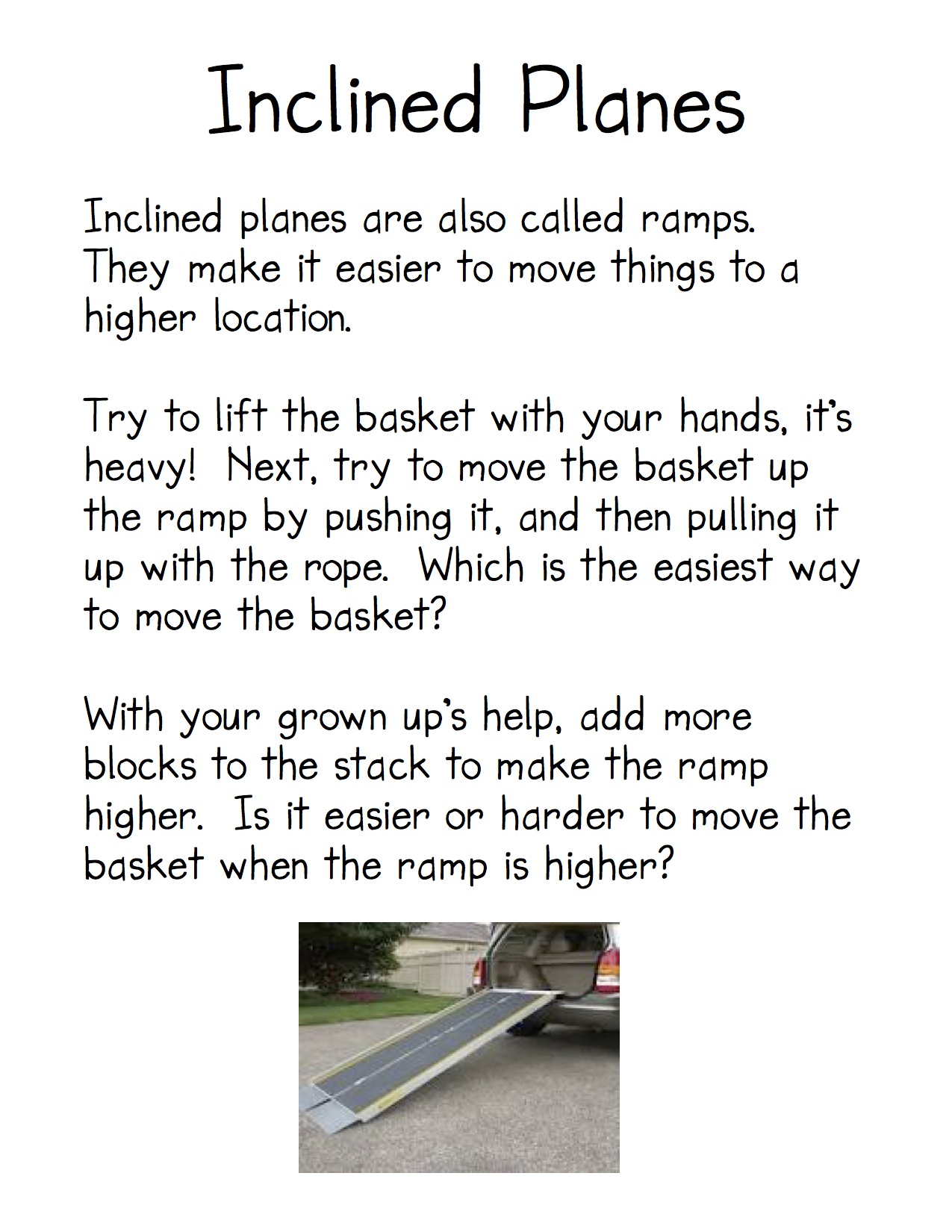Pulleys And Inclined Planes Worksheet