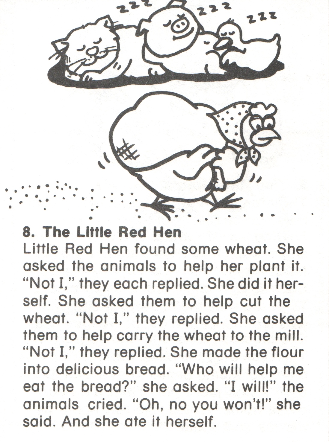 Little Red Hen Sequencing Printables