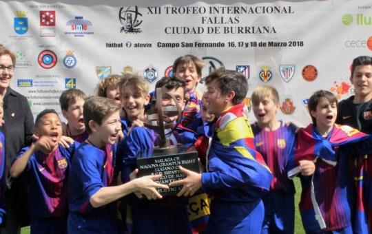 El Barça Alza El Trofeo Internacional de Fallas de Burriana.
