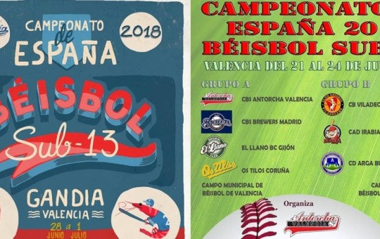 Campeonato de España de Beisbol Sub-13.