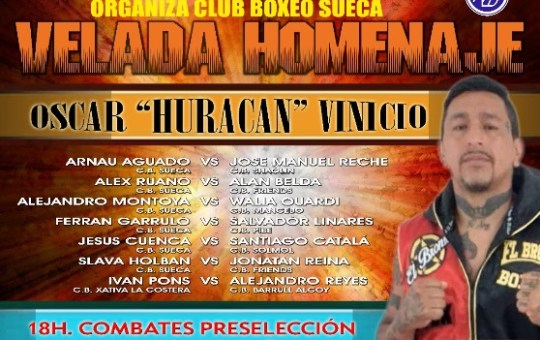 Velada homenaje a Oscar Vinicius Huracán Núñez