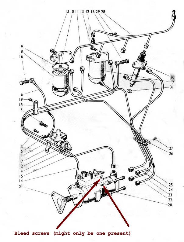 david brown 1210 wiring diagram