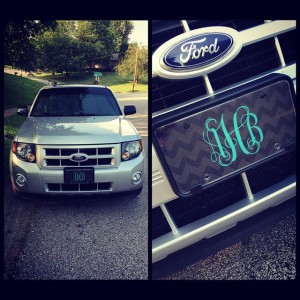 Custom Monogram License Plate