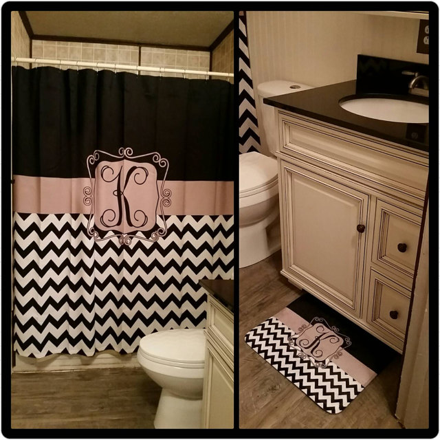 Monogrammed Shower Curtain Sale - Have Faith Boutique